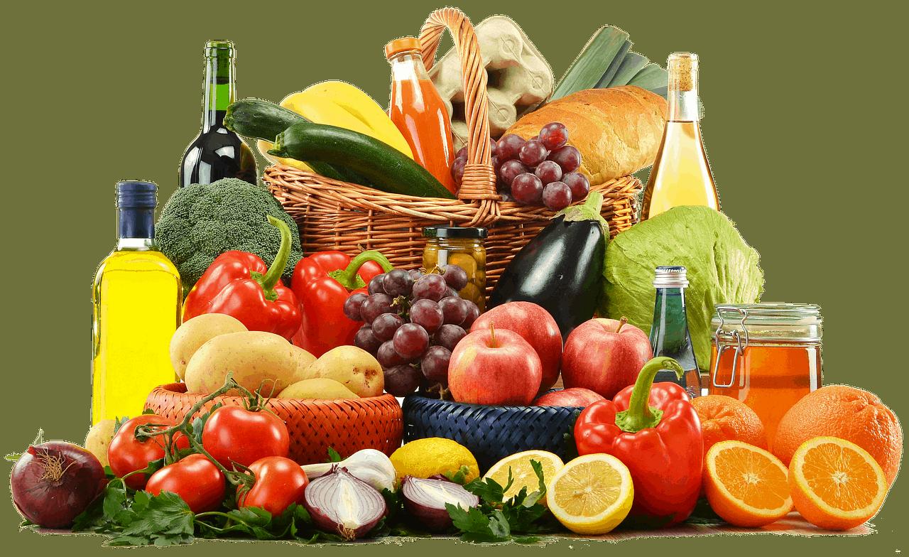 frische Früchte und Vitamine gesunde Ernährung